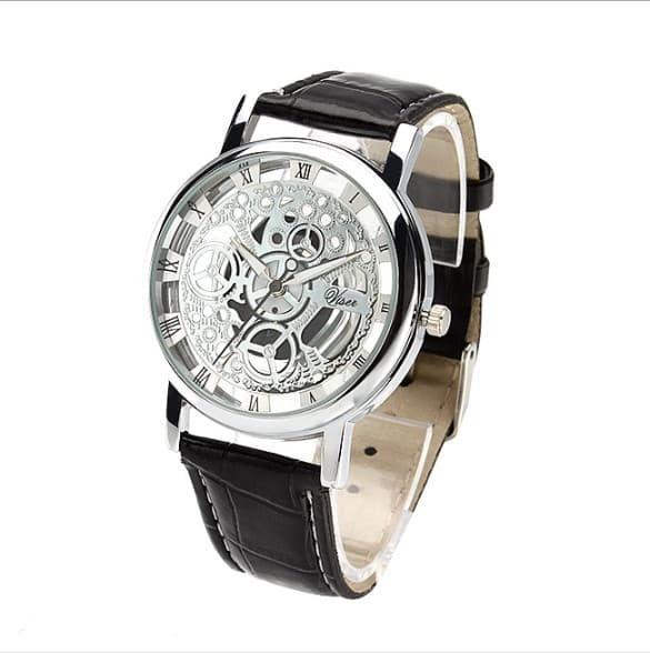 Jam Tangan Pria Wanita Fashion Casual Jam Tangan Analog - Fas114 - Hitam Putih