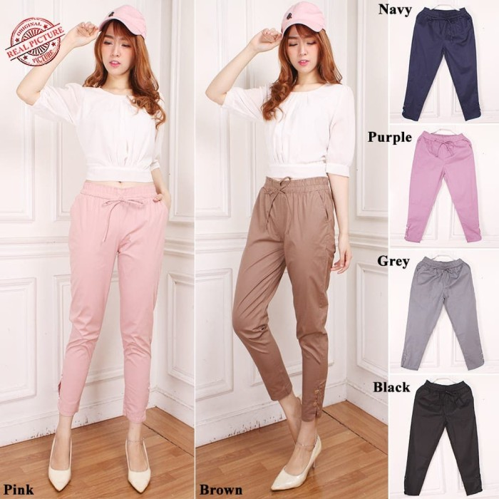 SB Collection Celana Panjang Luvi Longpants Casual Wanita - Hitam