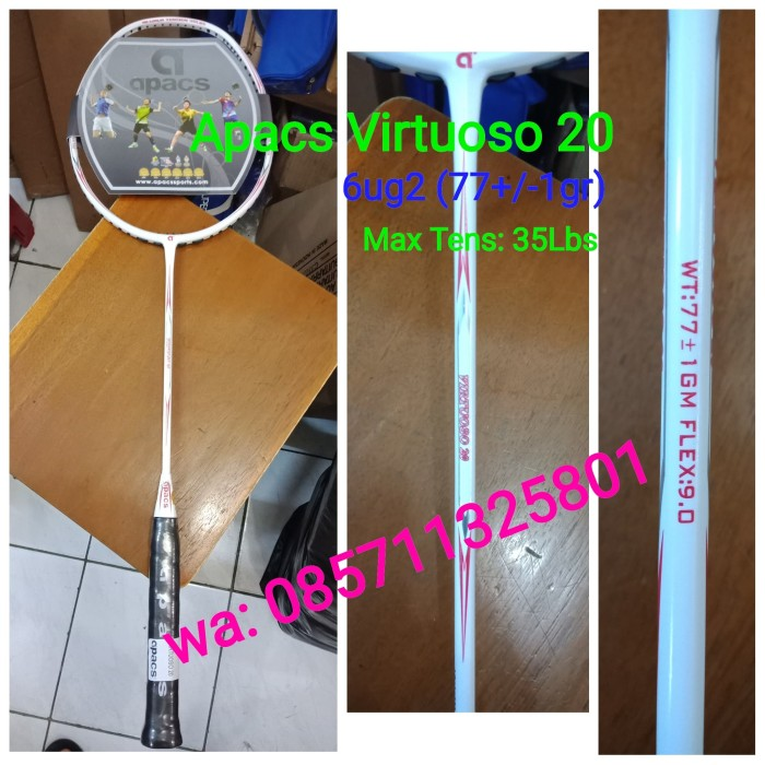 harga Raket badminton apacs virtuoso 10 ! (77gr) combination power & speed Tokopedia.com
