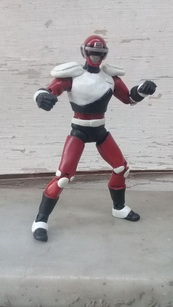 Jual Action Figure Custom Bycrossers Red Metal Heroes Power Ranger Vintage Kota Salatiga Aneka Toys