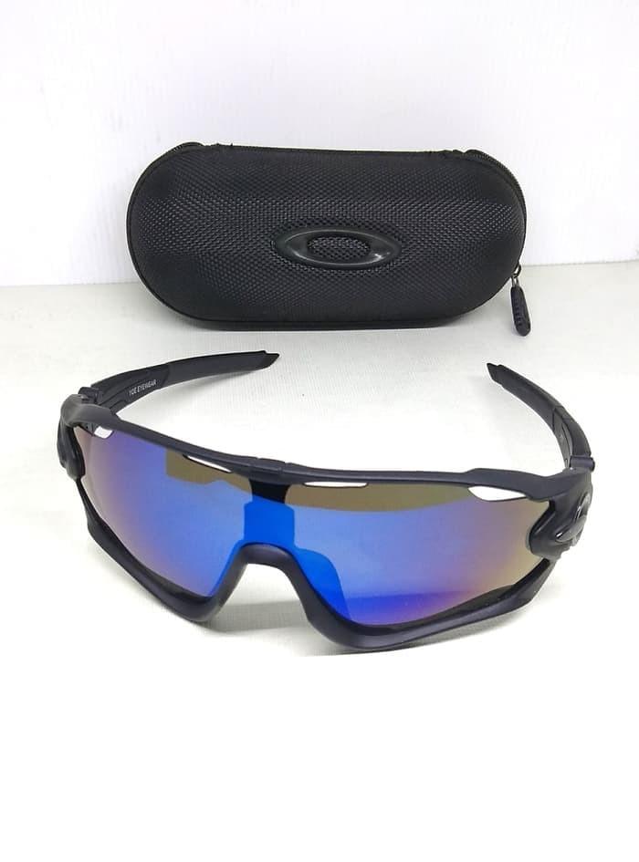 Kacamata pria oak-ley jawbreaker sungglass sporty lensa biru 1b255b009f