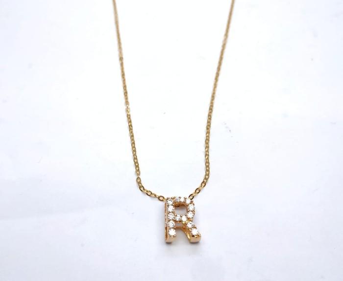harga Liontin emas model nagita initial r tanpa kalung Tokopedia.com