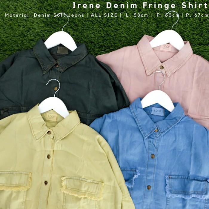 f3068da917d Jual Irene Denim Fringe Shirt - NissaShopping