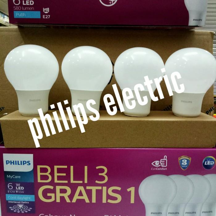 LAMPU LED PHILIPS 6 WATT 6WATT 6 W 6W(1 PAKET ISI 4 PCS)