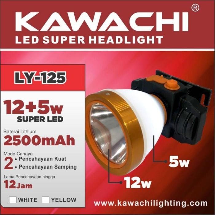 harga Senter kepala 12w 12 watt super led kawachi ly 125 cas recas lithium Tokopedia.com