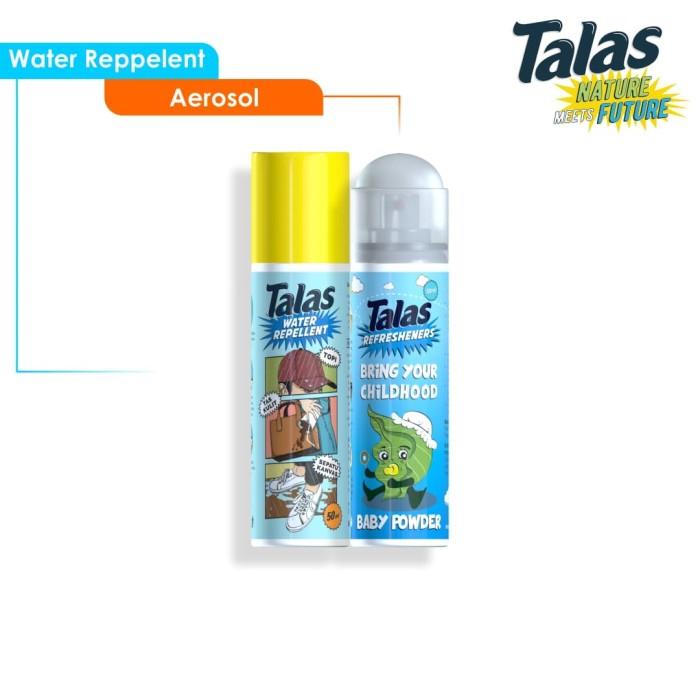 New Talas Water Repellent (Pelindung Anti Air) & Talas Refreshener Aerosol Baby Powder (Pengharum) - Blanja.com