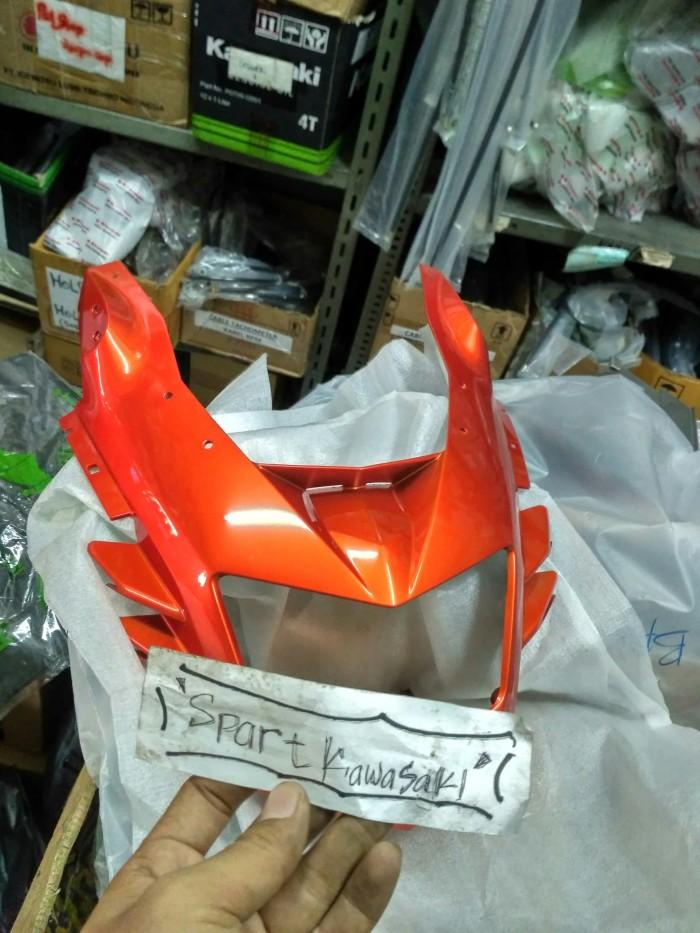 Cover batok headlamp lampu depan ninja rr new 150 oren orange Original