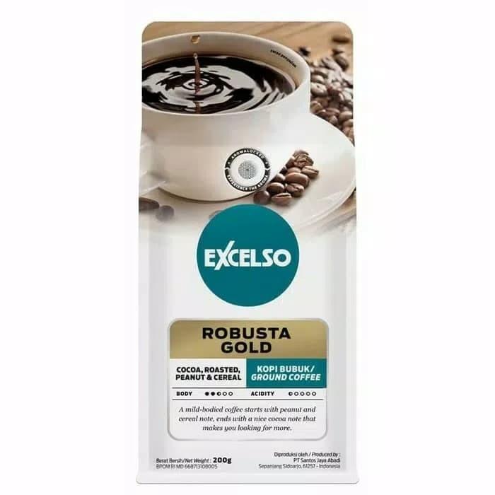 Excelso robusta gold 200 gram kopi bubuk ground coffee