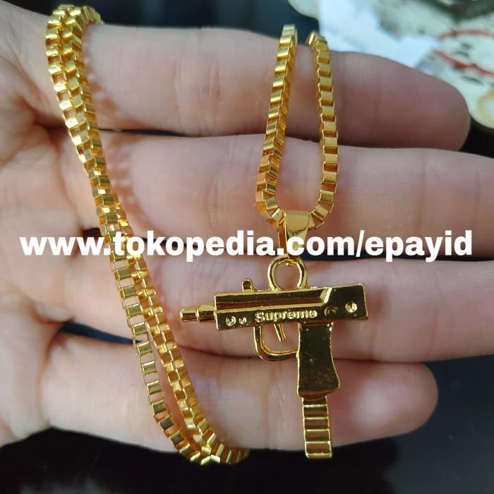 harga Kalung mini uzi supreme hip hop hype gold / silver Tokopedia.com