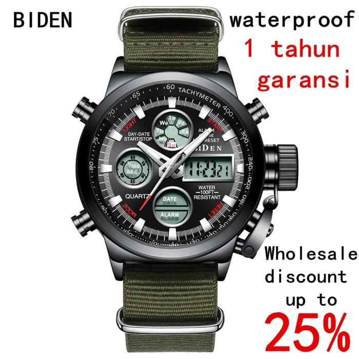 harga Jam tangan biden pria army led kulit - hijau Tokopedia.com