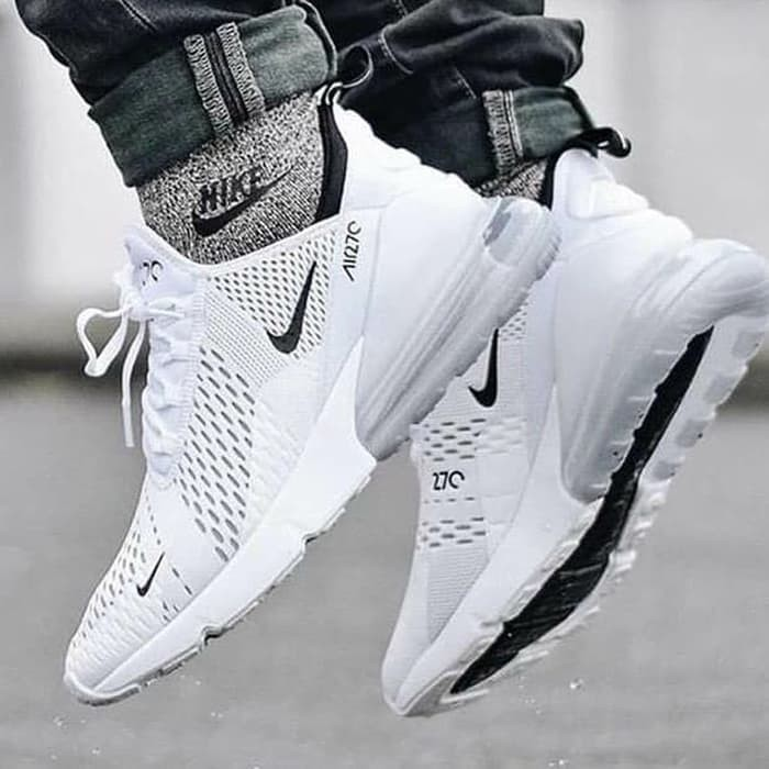 ... france ori nike airmax 270 flyknit air max all white sepatu premium  quality 874c6 b2d9f 2bf333b713