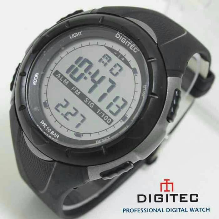 PREMIUM Jam Tangan Pria Digitec 3019 Original Full Hitam DG3019T