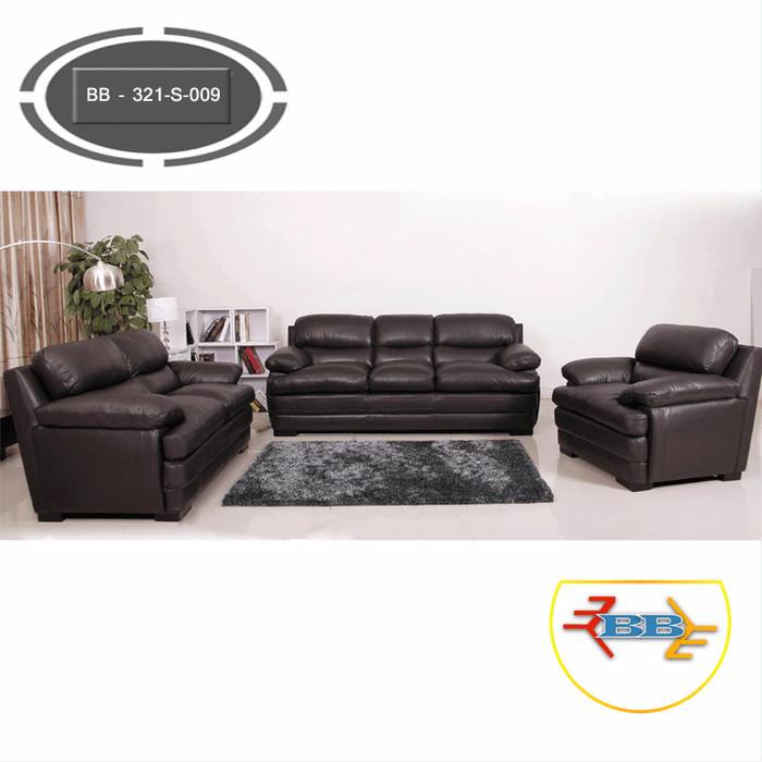 Jual Sofa Ruang Tamu Minimalis Modern 3 2 1 Polos Smoke Bb 321