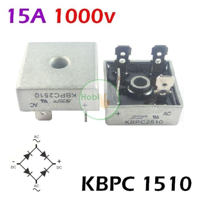 Dioda Jembatan KBPC 1510 15A 1000V Silicon Bridge Rectifier Taiwan SEP