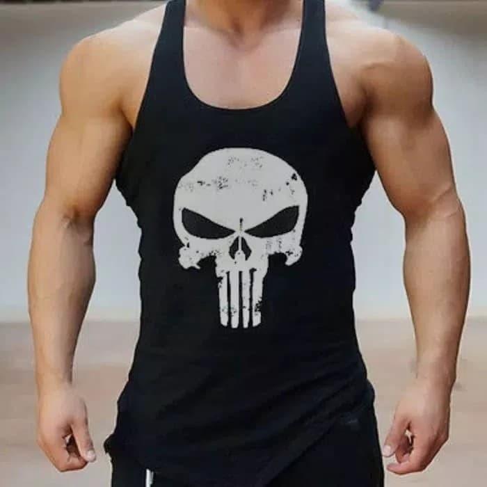 harga Singlet kaos murah gym fitness harley davidson motor Tokopedia.com