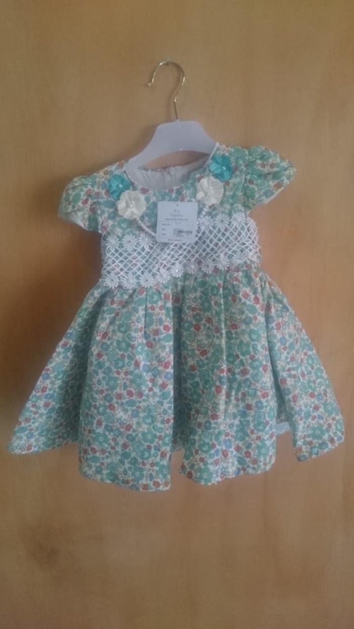 Jual Dress Pakaian Anak Perempuan Cewek Gaun Baju 2 3 4 Tahun Motif Bunga Jakarta Barat EasyStore