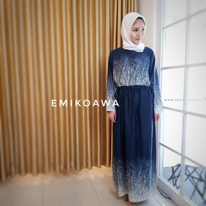 harga Gamis rutinavy - emikoawa / dress / maxi / busui / souvenir / Tokopedia.com