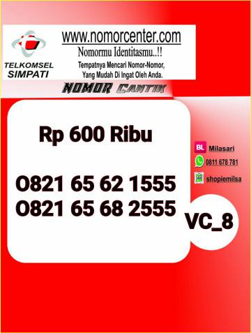 Nomor Cantik Simpati Seri Triple 555 -0821 6562 1555 VC8 234
