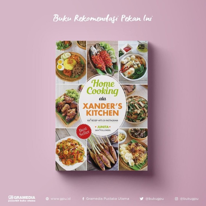 harga Buku masak home cooking xander's kicthen mega best seller Tokopedia.com