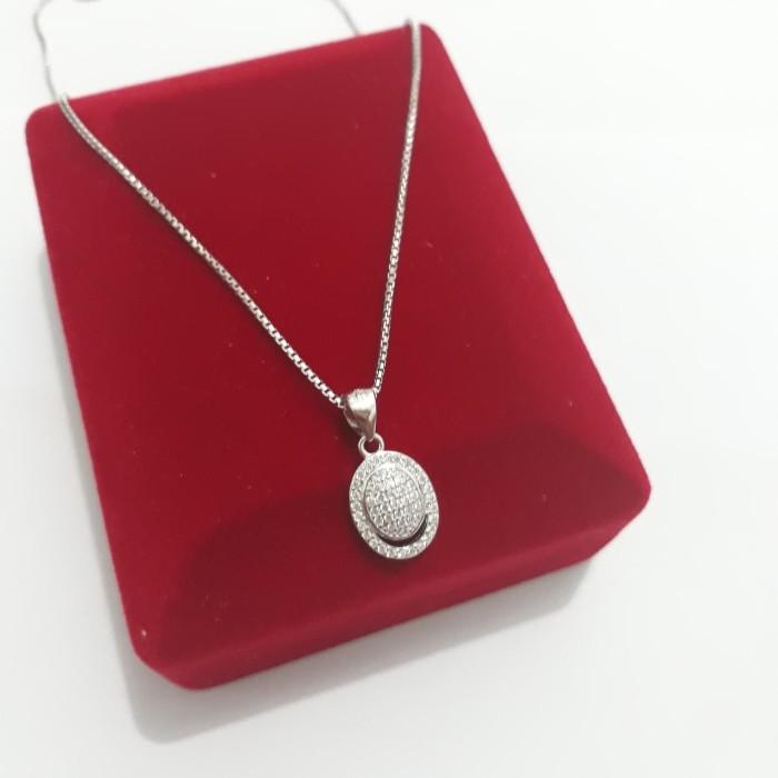 harga Kalung liontin perak 925/perhiasan silver lapis emas putih /kl429 Tokopedia.com