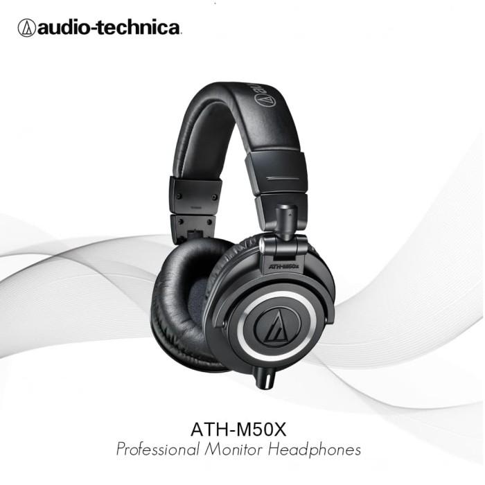 harga Audio-technica ath-m50x black - hitam Tokopedia.com