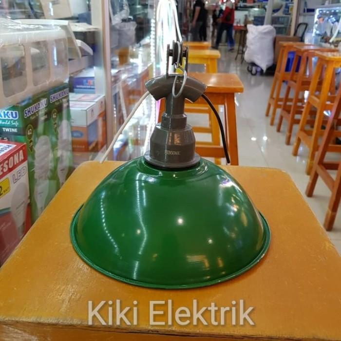 Kap Lampu Gantung WD Mini Hijau Diameter 18,5 cm + Fitting E27 (ulir)