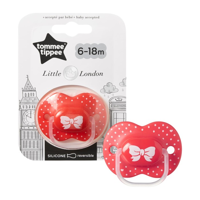 harga Tommee tippee empeng little london soother 6-18m red - 433412 Tokopedia.com