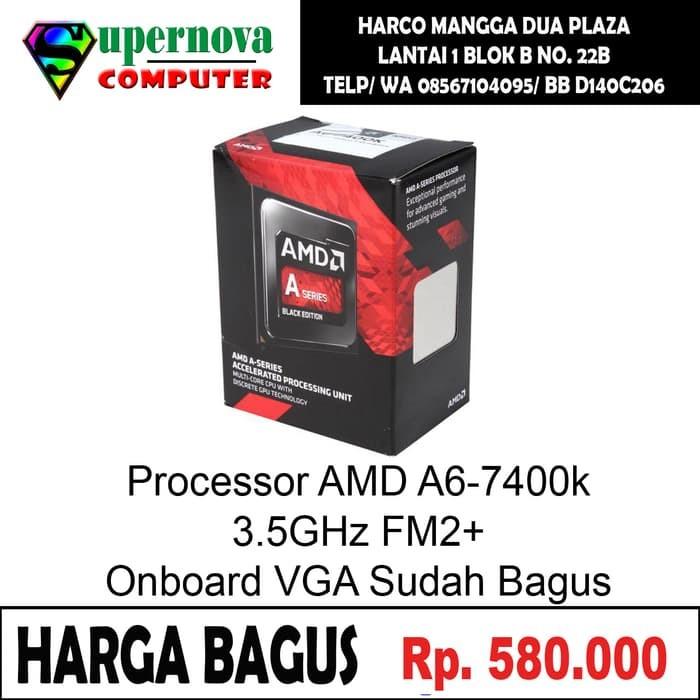 Jual Processor AMD A6-7400k 3,5GHz Socket FM2/FM2 - Kab  Enrekang -  artambumi | Tokopedia
