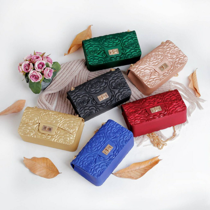 harga Tas murah fashion import chanel maxi flower jelly matte g.1013 Tokopedia.com
