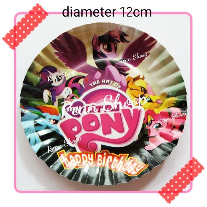 Jual Piring Kertas Kue Tart Ulang Tahun Karakter Kuda Poni My Little Pony Kota Bekasi Rean Shoop Tokopedia