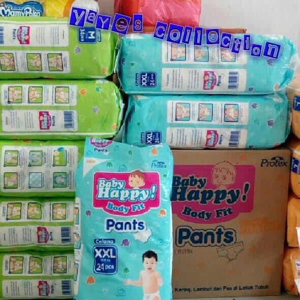 Baby happy xxl 24 popok celana bayi 15 sampai 25 kg pempers babyhappy