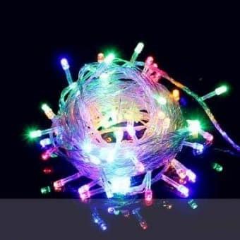 Lampu hias natal tumbler 140l / tumblr led rice warna warni
