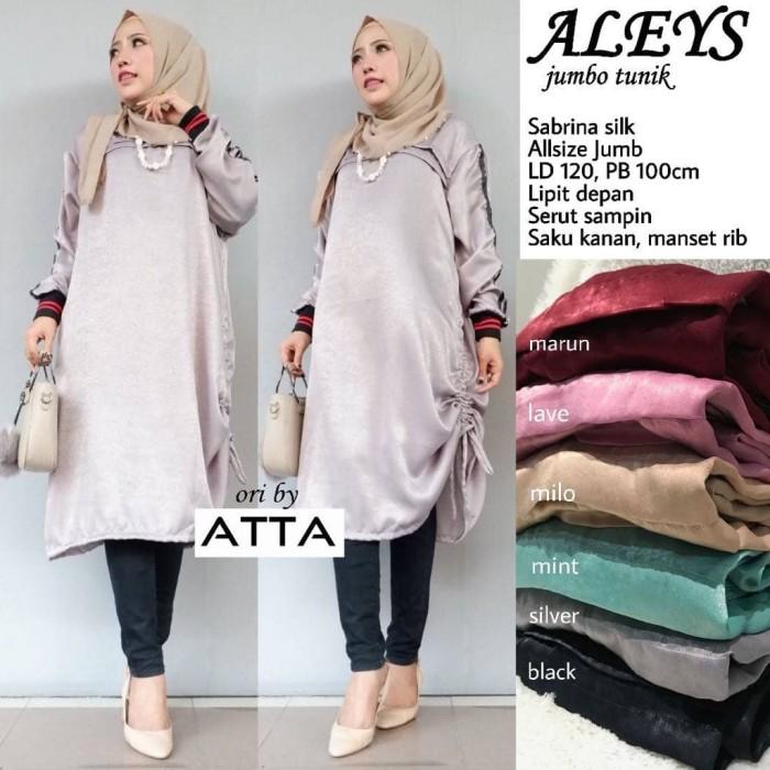 Baju Muslim Original Blus Meow Strike Top Blouse Baju Panjang Wanita Pakaian  Modis Casual Modern Ba 4af6c573ac