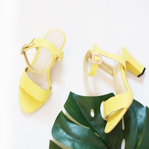 harga Hello nuku mykonos lime strappy heels - kuning 36 Tokopedia.com
