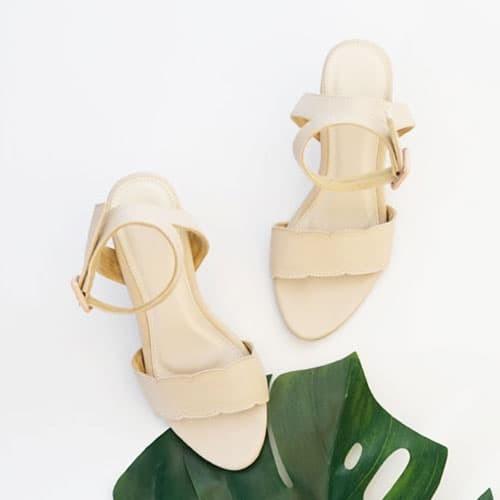 Hello nuku mykonos nude strappy heels - ivory 37