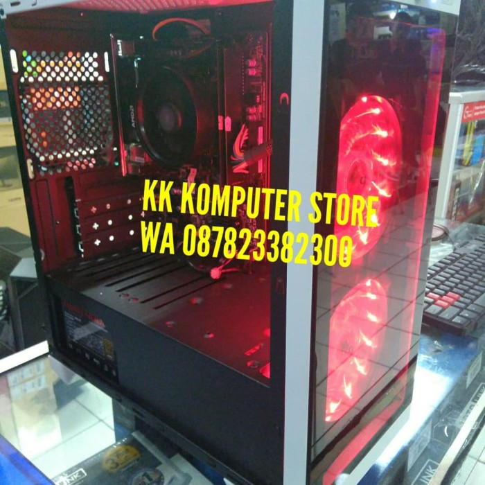 harga Pc cpu rakitan gaming ryzen 5 2200g msi b450m gaming hdd 1tb wifi Tokopedia.com