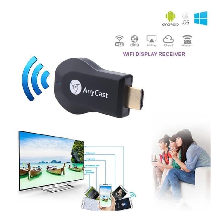 Foto Produk Anycast Dongle HDMI Wireless Wifi / M2 Plus / M4 / Miracast / Ezcast dari Cikuleta