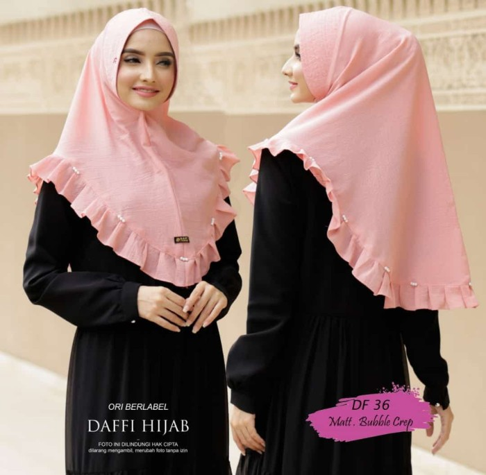 Jual Jilbab Daffi Kode Df 28 Colection Firstly Online Tokopedia