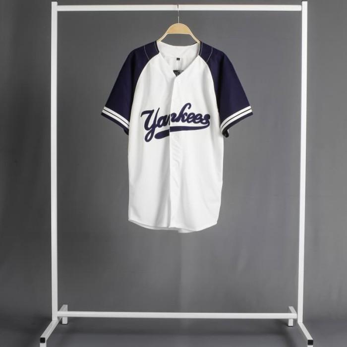 new products 5bb8d df5eb Jual Jersey baseball - baju baseball yankees putih navy - Kab. Bandung -  Dropship Fashion ID   Tokopedia
