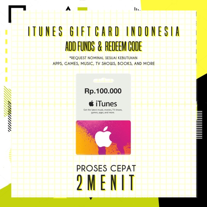 Jual Itunes Gift Card Indonesia (IGC) - 100.000 (Metode Add Funds ... 10bb150e3e