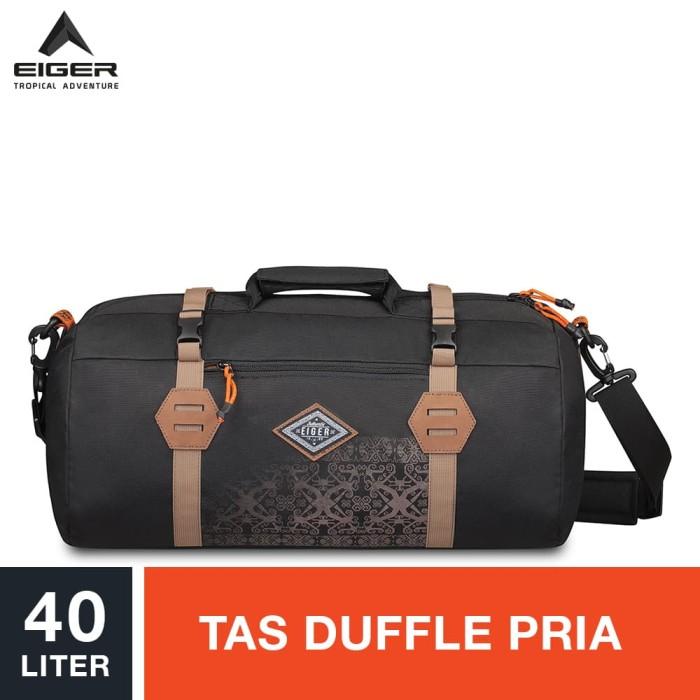 eiger borneo s duffle backpack 40l - black / tas duffle pria