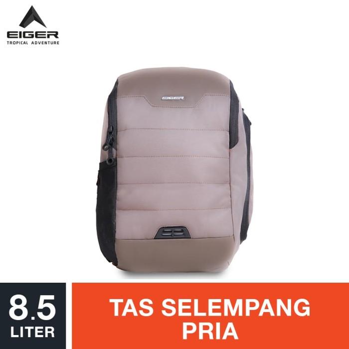eiger riding sling bag altima 1.1 8.5l - brown / tas selempang pria