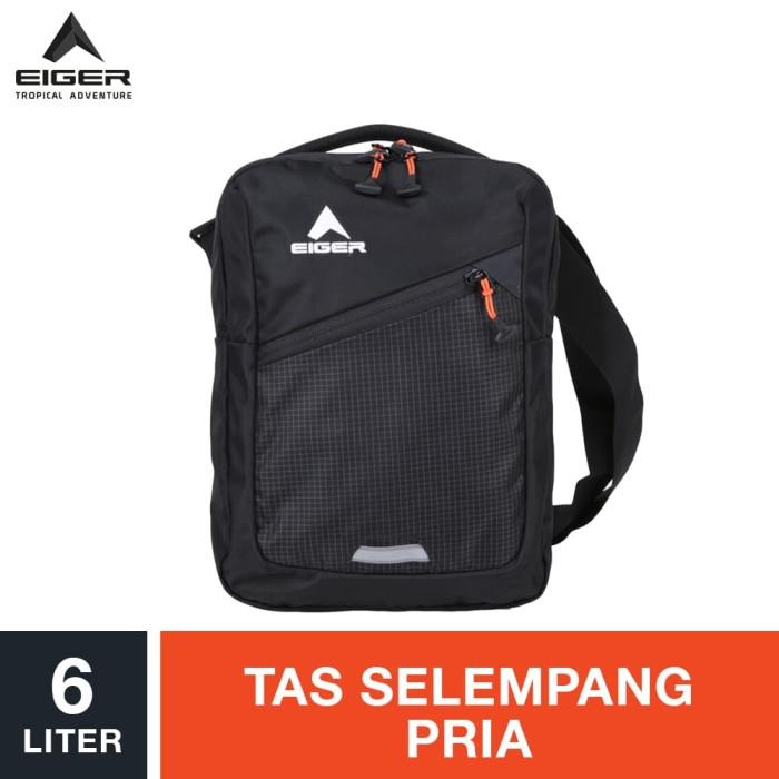 eiger simple organizer shoulder bag 6l - black / tas selempang pria