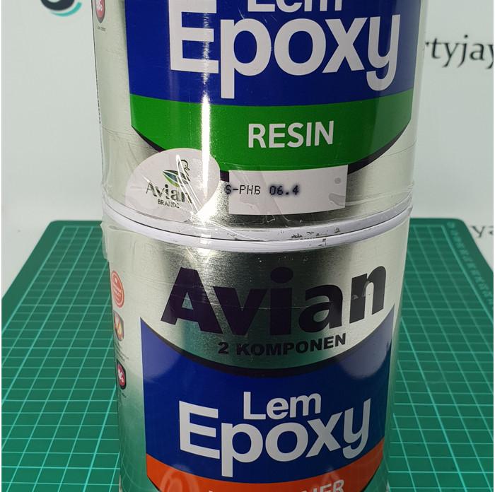 Jual lem epoxy tranparant bening avian 800 x 2 komponen hardener resin -  Jakarta Utara - Libertyjaya | Tokopedia