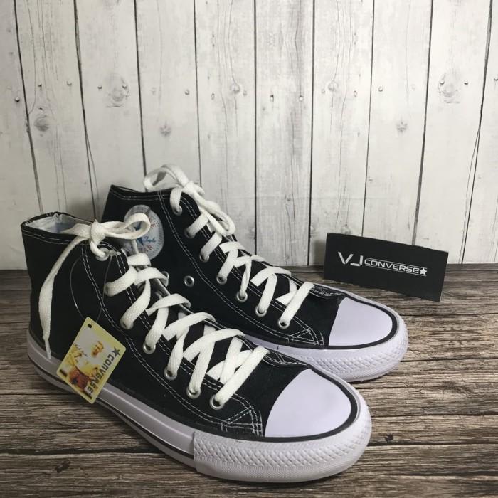 Sepatu Sekolah Casual Pria Wanita Converse All Star High Tinggi Murah -  Hitam e7248a88ad