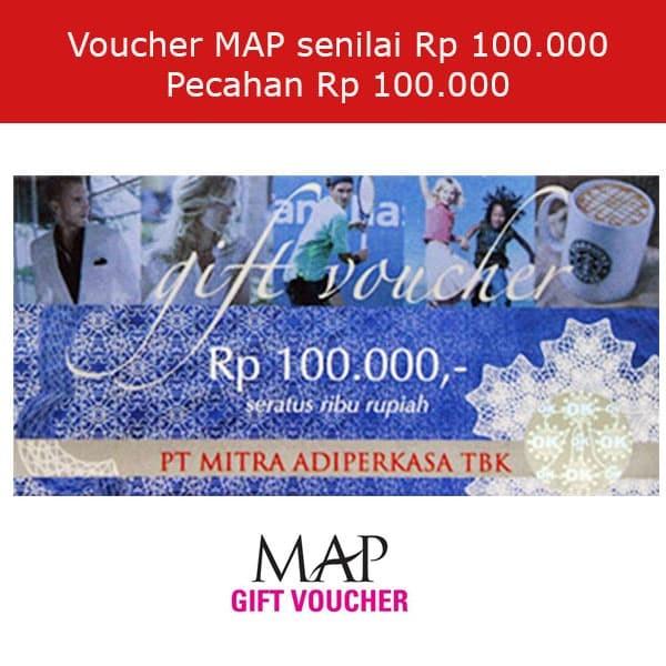 Voucher MAP 100000/ 100.000 / 100 rbu (1 Lembar)