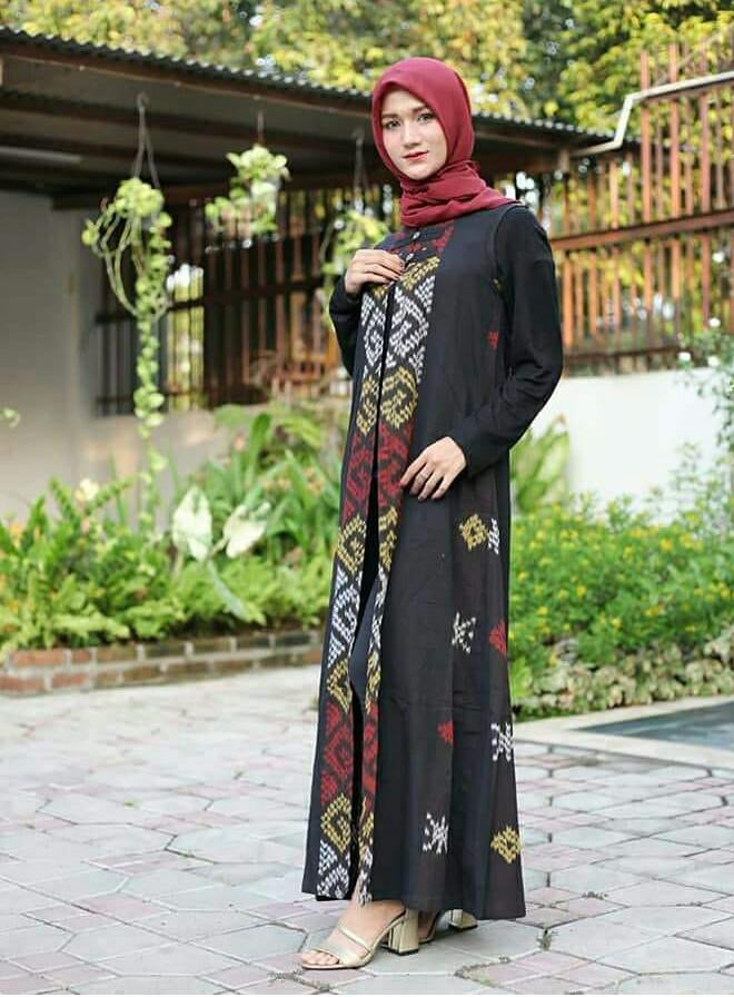 Gamis Kain Tenun Troso Hijab Casual