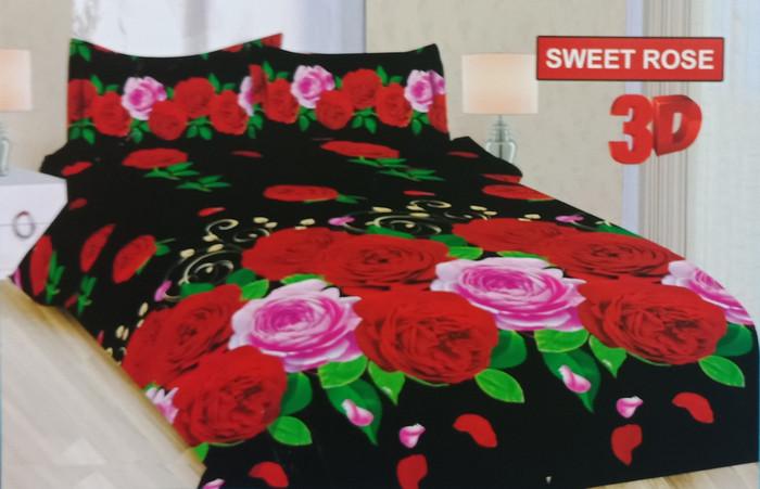 Sprei bonita disperse 3d queen no.2 160 x 200 seprai sweet rose