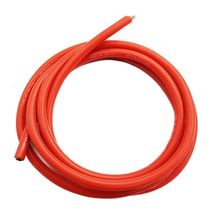 Foto Produk Kabel Silikon 16AWG silicone wire 16 awg Merah atau hitam AWG16 RC - Merah dari Alladin Shop