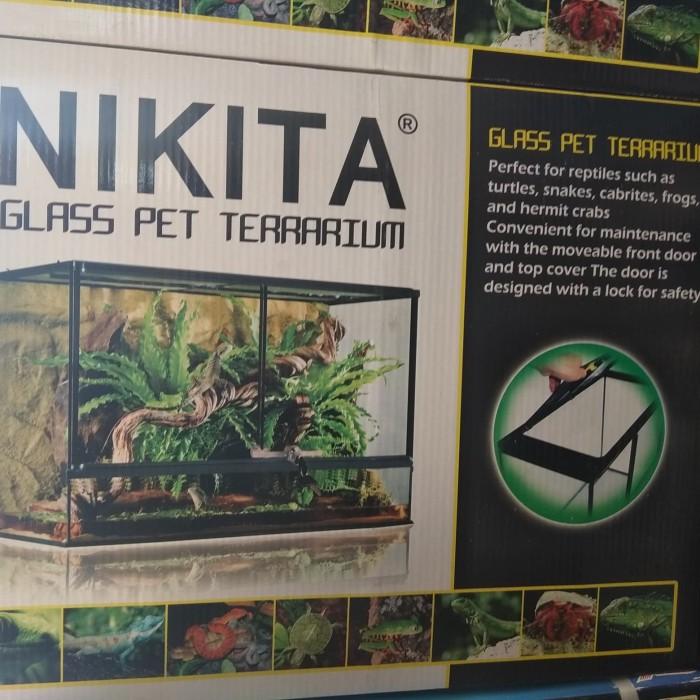 Jual Aquarium Nikita Glass Pet Terrarium Uk 60 Large Reptile Kota